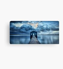 A Little Blue Boatshed Metal Print