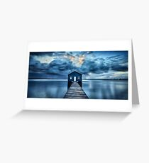 A Little Blue Boatshed Greeting Card