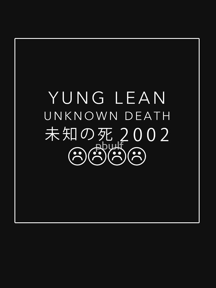 YUNG LEAN UNKNOWN DEATH 2002 (BLACK) by pbwlf