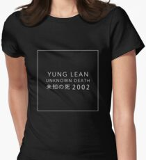 YUNG LEAN: UNKNOWN DEATH 2002 (BLACK) Women's Fitted T-Shirt