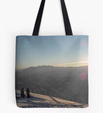 Last downhill run Tote Bag