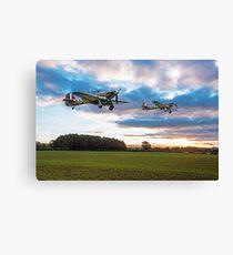 17 Squadron Scramble Canvas Print