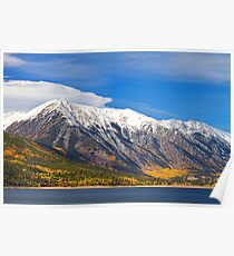 Twin Lakes Autumn Landscape Poster