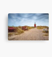 """Lighthouse """"Red Cliff"""" (Kampen/Sylt) Canvas Print"""
