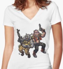 Hench Mutants Women's Fitted V-Neck T-Shirt