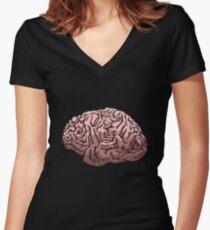 Human Brain Women's Fitted V-Neck T-Shirt