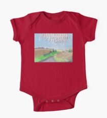 Mackerel sky on September morning in the countryside in England One Piece - Short Sleeve