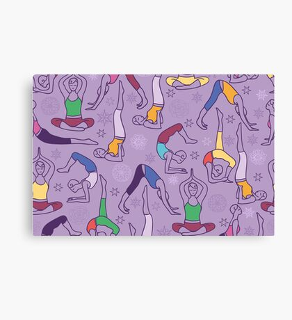 Yoga poses pattern Canvas Print