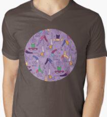 Yoga poses pattern V-Neck T-Shirt