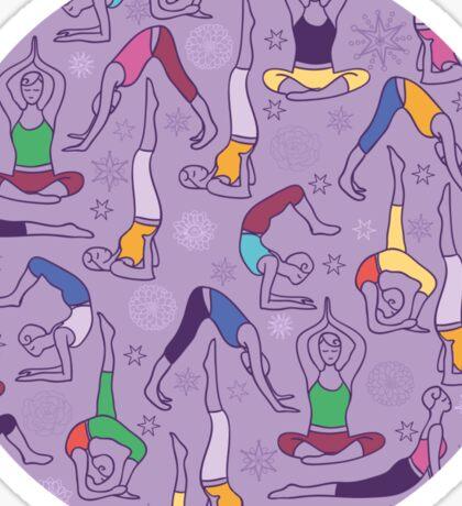 Yoga poses pattern Sticker