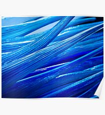 Blue Murano Glass abstract Poster