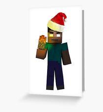 Minecraft: Christmas Herobrine Greeting Card