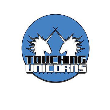 Touching Unicorns Blue Logo Phone Case by Redexx