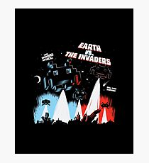 Earth vs. The Invaders Photographic Print