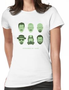 ALL HAIL HEISENBERG! Womens Fitted T-Shirt