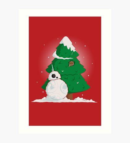 Snowdroid Art Print