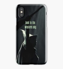 Look to the western sky iPhone Case/Skin
