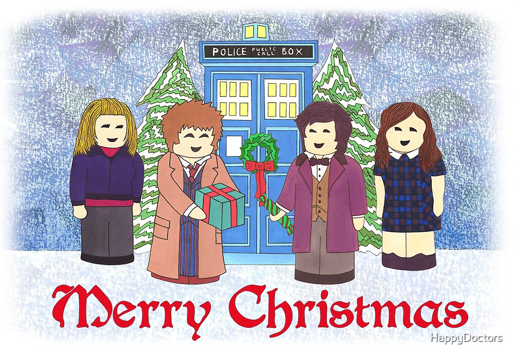 Doctor Who Christmas - 10th and 11th Doctors by HappyDoctors