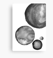 Ink Circles Abstract Art Canvas Print