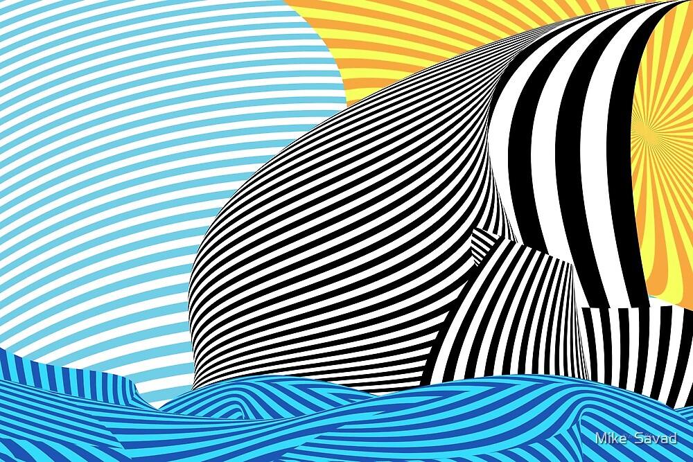 Abstract - Sailing by Michael Savad