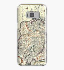 Vintage Map of Asia Samsung Galaxy Case/Skin