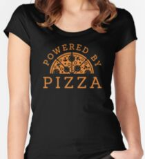 Powered by pizza Women's Fitted Scoop T-Shirt