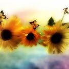 Sunflowers in harmony  by Annabellerockz