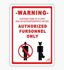 Authorized Fursonnel Sticker