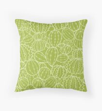 Cactus plants texture pattern Throw Pillow