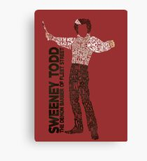 Sweeney Todd - Typography Canvas Print