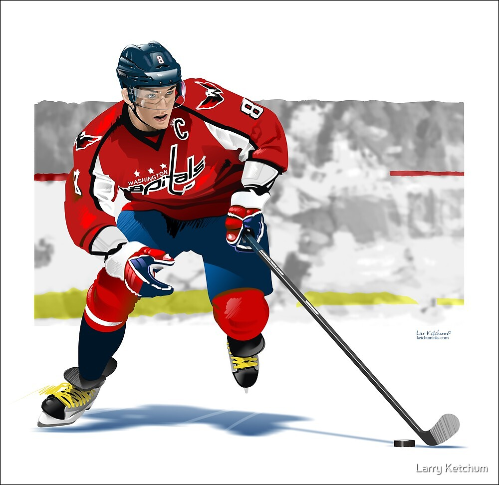 Alex Ovechkin by Larry Ketchum