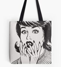 Amazed woman Tote Bag