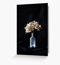 Dried Hydrangea Greeting Card