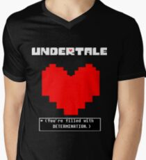 Undertale: Filled with DETERMINATION Men's V-Neck T-Shirt