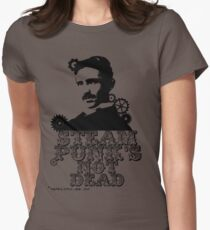 Nikola Tesla was a punk Womens Fitted T-Shirt