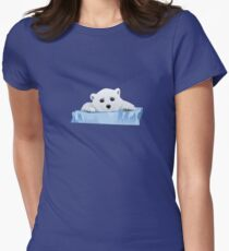 Poor Polar Bear Womens Fitted T-Shirt