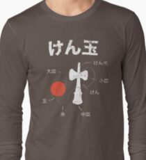 Kendama Anatomy Long Sleeve T-Shirt