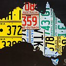 Australia License Plate Map by designturnpike