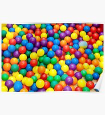 colored balls Poster