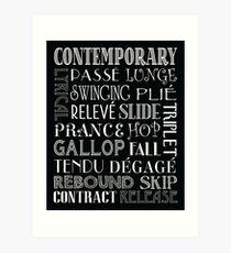 contemporary dance words wall art redbubble