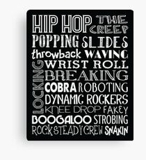Hip Hop Dance Subway Art Poster Canvas Print