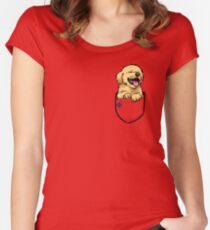 Pocket Puppiez - Golden Retriever Women's Fitted Scoop T-Shirt
