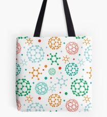 Colorful molecules pattern Tote Bag