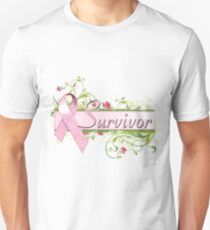 Pink Survivor Floral T-Shirt