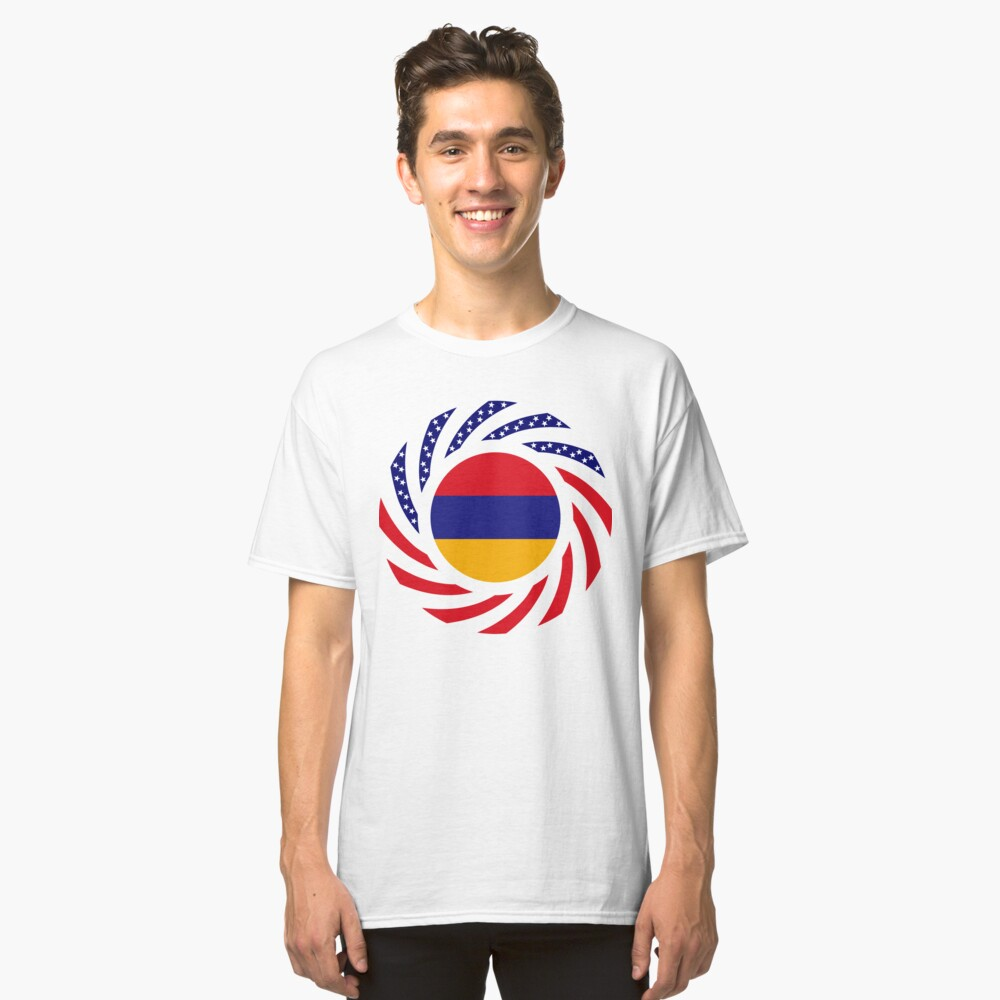 Armenian American Multinational Patriot Flag Series Classic T-Shirt
