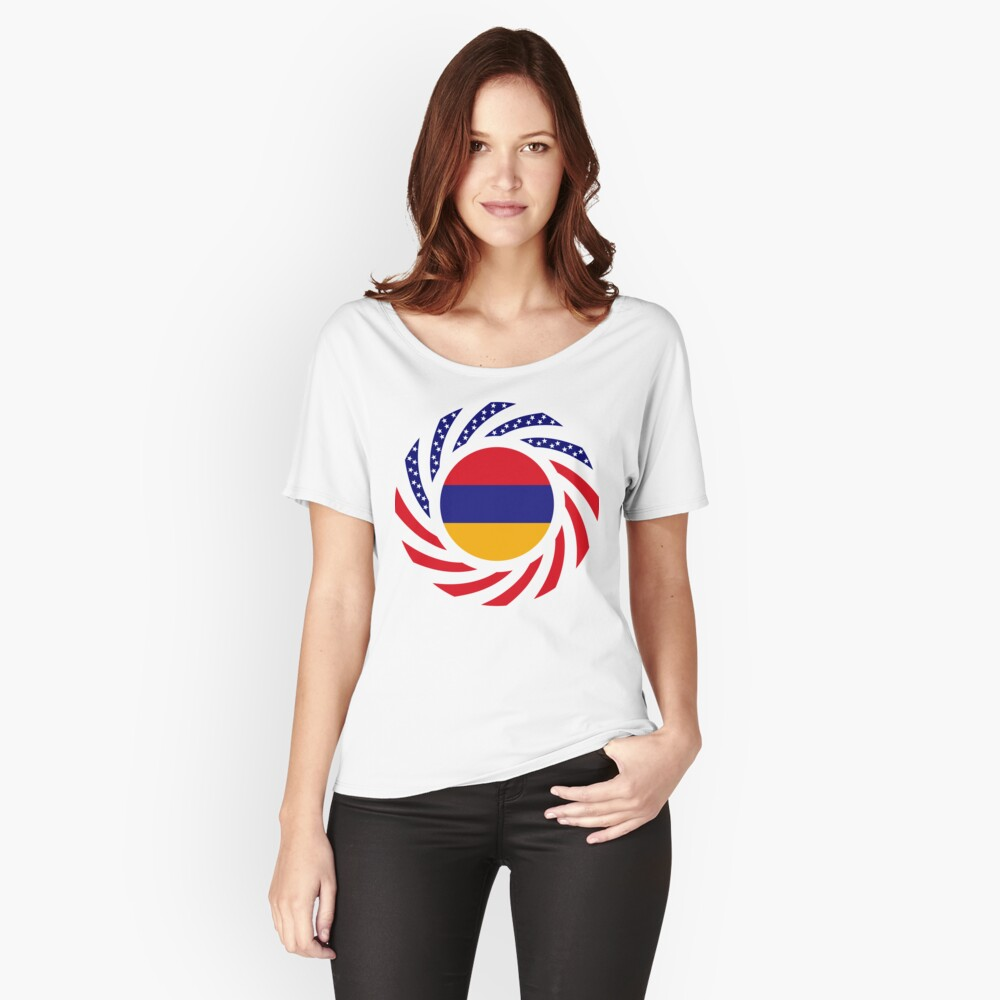 Armenian American Multinational Patriot Flag Series Relaxed Fit T-Shirt