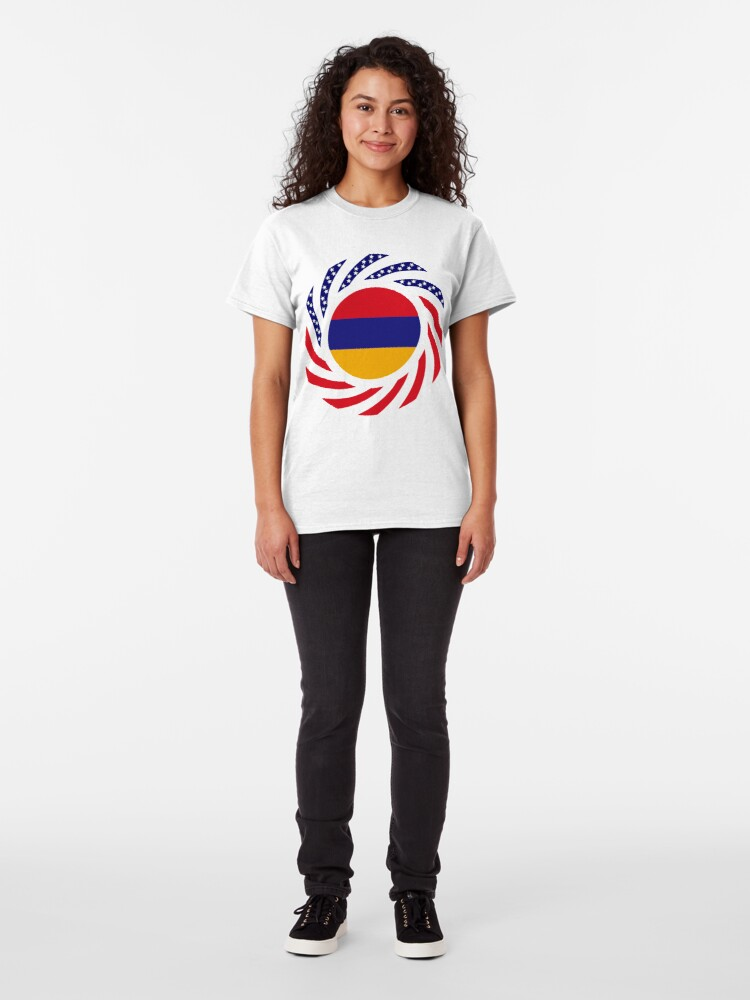 Alternate view of Armenian American Multinational Patriot Flag Series Classic T-Shirt