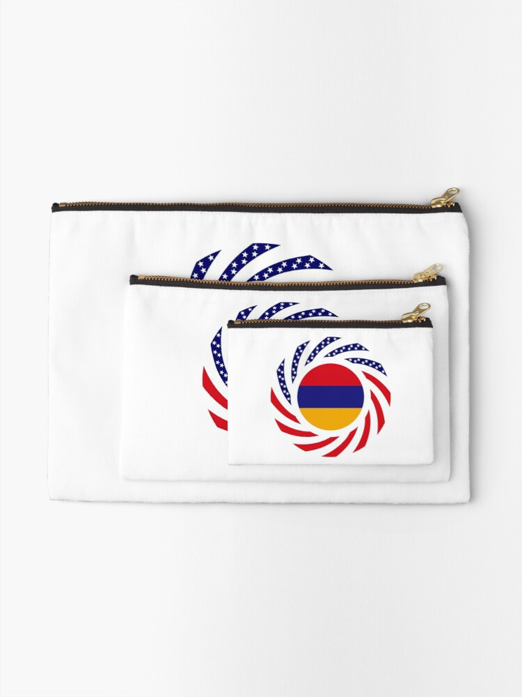 Alternate view of Armenian American Multinational Patriot Flag Series Zipper Pouch