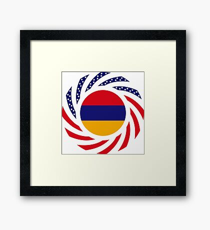 Armenian American Multinational Patriot Flag Series Framed Print
