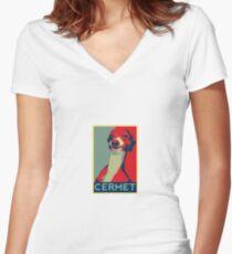 Cermet Women's Fitted V-Neck T-Shirt